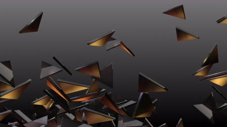 bod vzplanutí : 4k Abstract 3d triangle glass broken space particle design technology art background.