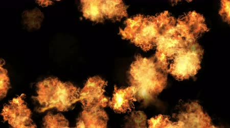 szédülés : 4k Hot fire burning background,Abstract powerful explosion particle smoke power firework energy.