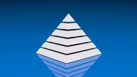 hierarchy : 4k Pyramid triangle geometry design element abstract object mystery background.