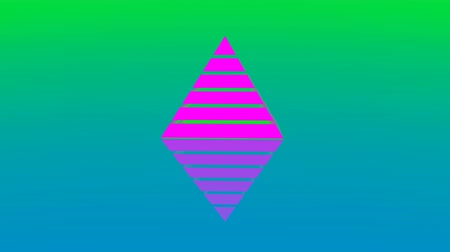 stabiliteit : 4k Pyramid triangle geometry design Ethereum element abstracte ether object mysterie achtergrond. Stockvideo