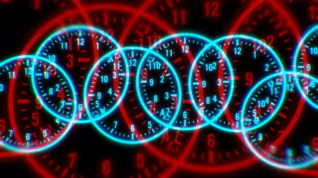 numerais : 4k Circle round digit time clocks & digital wheels background,trade finance channel,stopwatch space,contests competition tunnel,mystery focus backdrop. Stock Footage