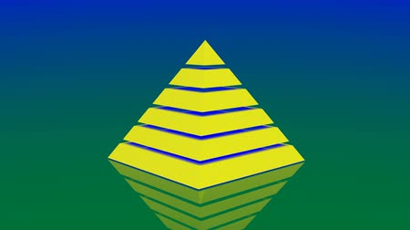 stabilní : 4k Pyramid triangle geometry design element abstract object mystery background.