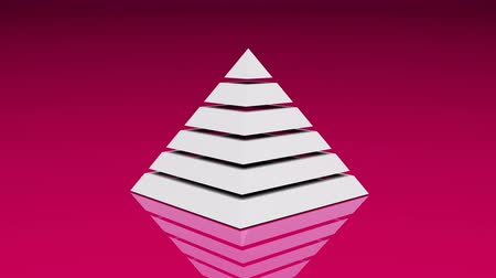 egyiptomi : 4k Pyramid triangle geometry design element abstract object mystery background.