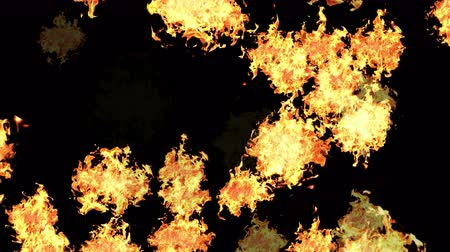vulcão : 4k Hot fire burning background,Abstract powerful explosion particle smoke power firework energy.