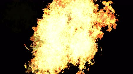 извержение : 4k Hot fire burning background,Abstract powerful explosion particle smoke power firework energy.