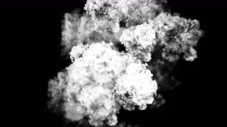 attacks : 4k Abstract smoke powerful gas cloud power smog firework steam energy,hot fire burning mist fog microbe virus fume germ background.