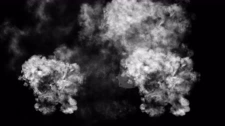 armaments : 4k Abstract smoke powerful gas cloud power smog firework steam energy,hot fire burning mist fog microbe virus fume germ background.