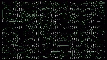 integração : 4k a futuristic circuit board with moving electrons,electronic connections,communication,futuristic technology.