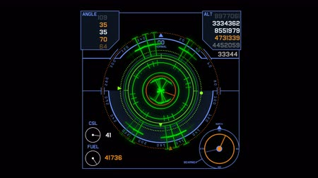 zametání : 4k Radar GPS signal tech screen display,future science sci-fi data computer game navigation dashboard HUD technology interface background.