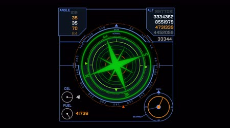 légtér : 4k Radar GPS signal tech screen display,future science sci-fi data computer game navigation dashboard HUD technology interface background.