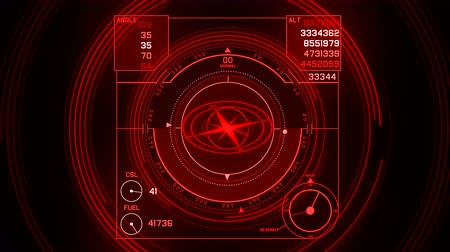 záření : 4k Radar GPS signal tech screen display,future science sci-fi data computer game navigation dashboard HUD technology interface background.