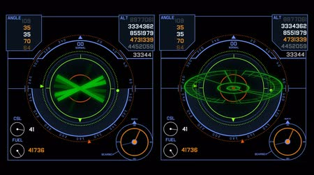 marine technology : 4k Radar GPS signal tech screen display,future science sci-fi data computer game navigation dashboard HUD technology interface background.