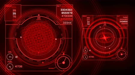 bússola : 4k Radar GPS signal tech screen display,future science sci-fi data computer game navigation dashboard HUD technology interface background.