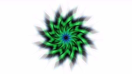 dazzle : 4k Abstract whirl rotation gear & flower pattern background,laser light rays space,windmill,aurora,tech energy field backdrop. Stock Footage