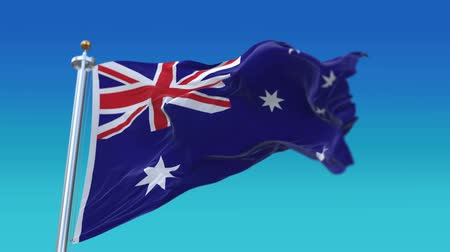 unie : 4k Seamless Australia flag waving in wind,fully digital rendering,flag 3D animation. Dostupné videozáznamy