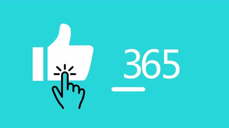 prémie : Like button with counting number,Animation of Social Network Counter,thumbs up and number of votes that is rapidly changing.process animation with percentage.