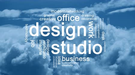 papeteria : Design Studio Animated Tag Word Cloud,Text Design Animation.