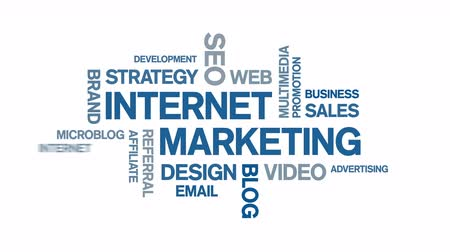 marca : 4k Internet Marketing Animated Tag Word Cloud,Text Design Animation.