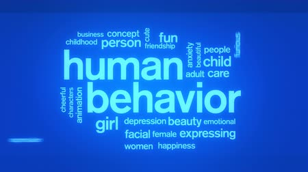 preocupar se : Human Behavior Animated Tag Word Cloud,Text Design Animation. Vídeos