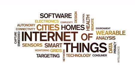 targeting : 4k Internet Of Things Animated Tag Word Cloud,Text Design Animation.