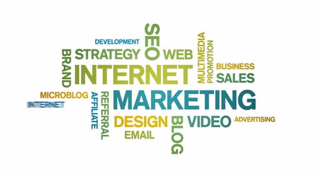 marketing : 4k Internet Marketing Animated Tag Word Cloud,Text Design Animation.