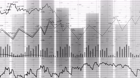 4k HUD graph and bar stats,Stock market business data visualization,financial business chart with diagrams and stock numbers showing profits and losses over time dynamically,flowing counters of numbers.