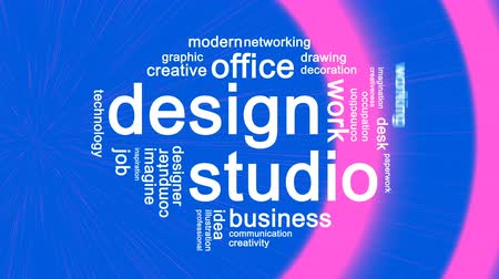 Design Studio Animated Word Cloud,Text Design Animation.