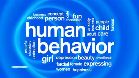 タグクラウド : Human Behavior Animated Tag Word Cloud,Text Design Animation. 動画素材