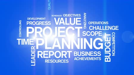 Project Planning Word Tag Cloud Animation,work team teamwork,market research.