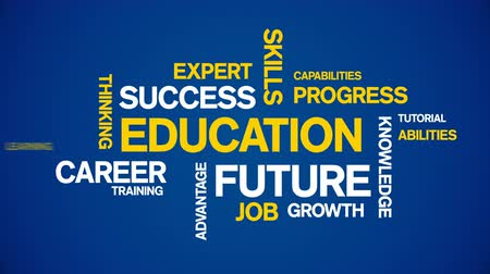 career success : 4k Education Animated Tag Word Cloud,Text Design Animation. Stock Footage
