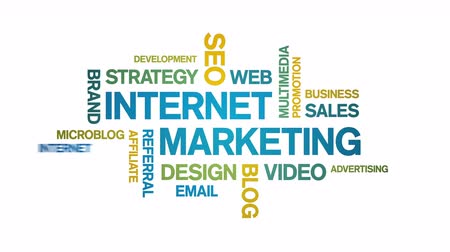4k Internet Marketing Animated Tag Word Cloud,Text Design Animation.