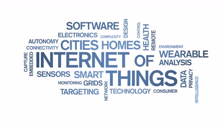elfog : 4k Internet Of Things Animated Tag Word Cloud,Text Design Animation.
