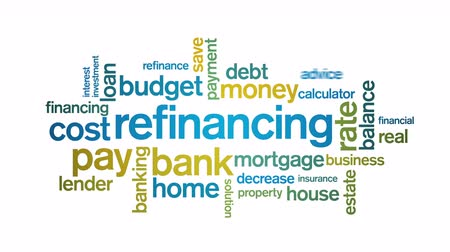 spadek : 4k Refinancing Animated Tag Word Cloud,Text Design Animation.