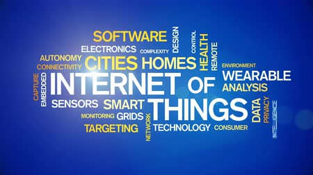 4k Internet Of Things Animated Tag Word Cloud,Text Design Animation.