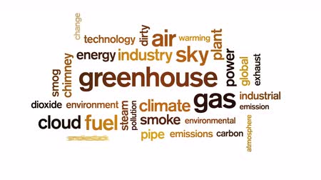 dioxid : 4k Greenhouse Gas Animated Tag Word Cloud,Text Design Animation,Kinetic Typography.