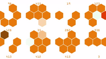 4k Hexagon chemical molecular,data information analysis science technology geometry architecture mathematics background.