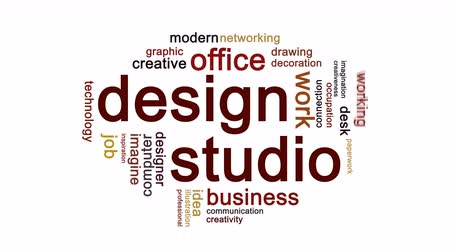 papeleria : Design Studio Animated Word Cloud, Animación de diseño de texto