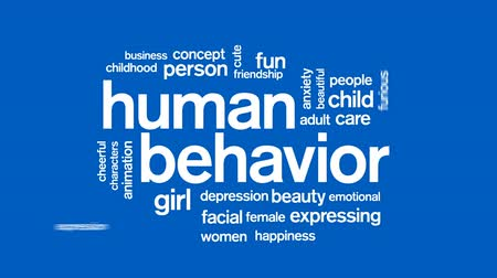 preocupar se : Human Behavior Animated Word Cloud, Text Design Animation. Vídeos