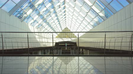 glass building : The bridge in the business center