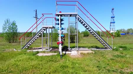 energetyka : rig for gas production.