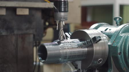 CNC drilling machine on a factory