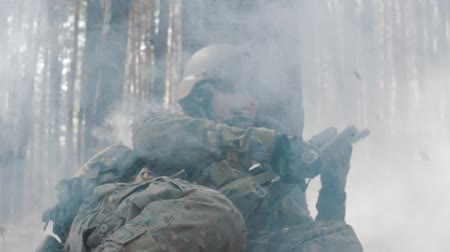 infantry : Young soldier scared during battle