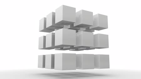 zęby : Moving Cubes, Symbolic for Teamwork, Leadership and the Saying Standing out from the crowd (3d rendering)