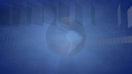 Background with a rotating Globe for Broadcast, Information Distribution, Webcasts, Entertainment and many other Applications, the Videos are loop-able (3d rendering) Stock Footage
