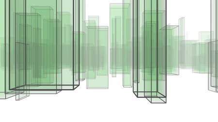 office life : Abstract City Flythrough Background in Green, useful for many different Applications. The Background is White