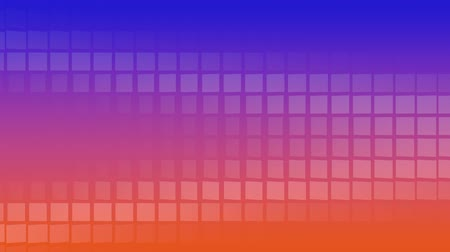 négyszögletes : Blue-Orange Background with rotating Tiles, useful foir many different Applications (3d Rendering and Loopable) Stock mozgókép