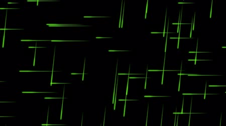 Glowing Green Particles with Traces on a Black Background, the File is looping and 3d Rendered