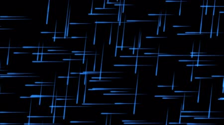Glowing Blue Particles with Traces on a Black Background, the File is looping and 3d Rendered Stock Footage