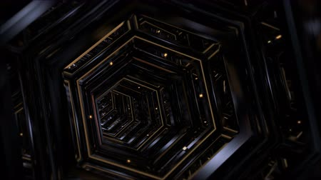 Flythrough a Science Fiction Tunnel in 4K (3d Rendering) Stock Footage