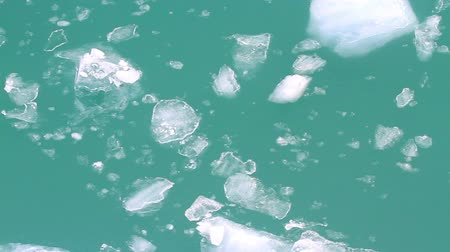 ice water floating by - aerial view